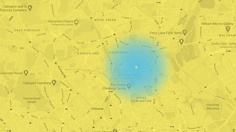 Tottenham Pavilion community voting map